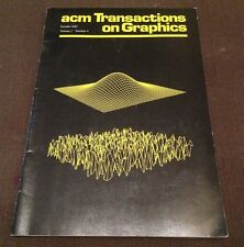 acm Transactions on Graphics (October 1982, Vol 1, Number 4)