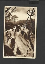 Vintage Black & White Postcard Swallow Falls-Bettws-y-Coed Wales Unposted