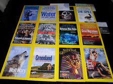 12 NATIONAL GEOGRAPHIC MAGAZINE COMPLETE SET 2010 ~ INCLUDES ALL SUPPLEMENTS