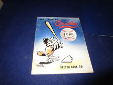1955 Baltimore Orioles 2nd Year Program Sketch Book
