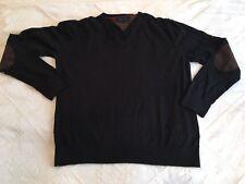 PULL TOMMY HILFIGER NOIR COTON LAINE T XXL 6 fit 5 XL BLACK PULLOVER SWEAT SHIRT