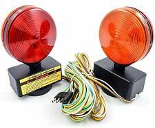 Pair of 12V Magnetic Towing Trailer Light Kit Amber/Red