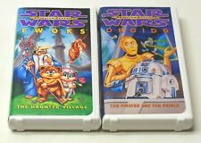 STAR WARS 1985 Animated Ewoks & Droids Lot TESTED The Haunted Village + VG Cond.