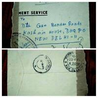 """VERY RARE INDIA PAKISTAN BORDER """"STAMPLESS"""" 1964 """"FPO 808"""" COVER ONLY 03 KNOWN"""
