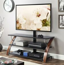 Whalen Payton Brown Cherry 3-in-1 Flat Panel TV Stand for TVs up to 65""