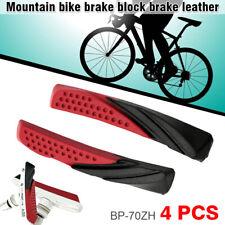 2 Pairs V-brake Pads Bicycle MTB Mountain Bike Durable Rubber Brake Blocks