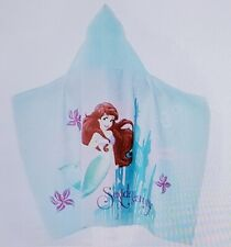 Nwt Disney The Little Mermaid Soft Cozy Bath Wrap Hooded Towel, 100% Cotton,...