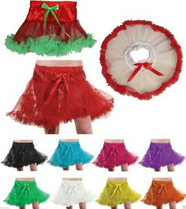 Girls Underskirt Swing Vintage Ruffle Petticoat Rockabilly Tutu Skirt 1-8 Years