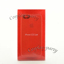 Genuine Original Apple Leather Case Cover Skin Fo iPhone se/5s/5 Open Box Red