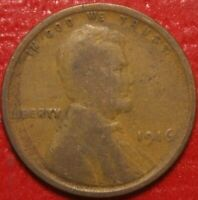 1916 Lincoln Wheat Cent Penny , Circulated  , US Coin