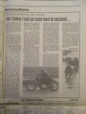 JOURNAL DU DECES DE JULES TACHENY - 1ère VICTOIRE DE LUIS HERRERA - 17/07/1984 -