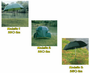 Carp Fishing Ombrellone Da pesca Orientabile Verde Con Tenda Ripara Pioggia FEU
