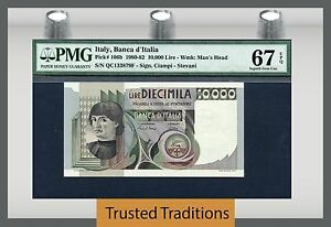 TT PK 106b 1980-82 ITALY BANCA D'ITALIA 10000 LIRE PMG 67 EPQ SUPERB GEM UNC