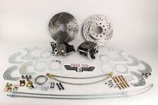 "Ford 9"" Rear Disc Brake Kit Drilled/ Slotted Rotors Emergency Brake Calipers"