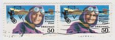 (UST-493) 1991 USA 50c pair H.QUIMBY Air Mail (G)