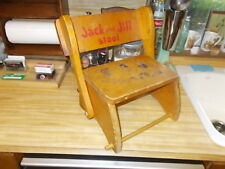 Vintage Wooded Jack and Jill Stool Good Condition Has Wear
