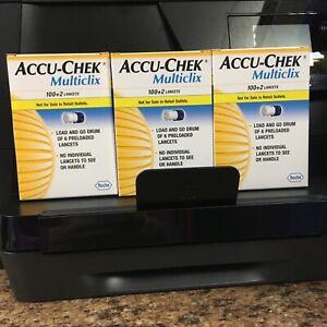Accu Chek Multiclix Lancets 3 Boxes (306 Lancets) New  Expires 4/2021