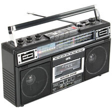 QFX Bluetooth Radio / Cassette to MP3 Converter Boombox with Built-In Speaker