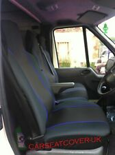 Renault Trafic (14 on) HEAVY Duty BLUE Trim VAN Seat COVERS - Single + Double