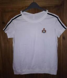 NEW - YAER TWO-PIECE TOP AND BOTTOMS, STRETCH SPORT WEAR WHITE/BRONZE/BLACK XL