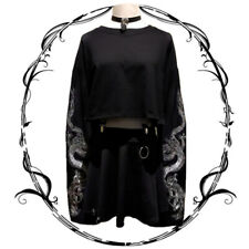 Japanese Harajuku Sweats Gothic Embroidery Casual Sweatshirt Jacket Women Coat