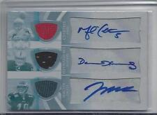 MICHAEL CRABTREE JEREMY MACLIN 09 TRIPLE THREADS WHITE WHALE JERSEY AUTO RC 1/1