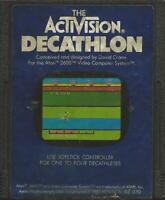 ORIGINAL Vintage TESTED 1983 Atari 2600 Activision Decathlon Game Cartridge