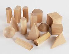 WOODEN geometriche solidi 3D forme MONTESSORI risorse di apprendimento per la casa scuola