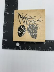 Pinecones Pine Cone Branch Great Impressions Wood Rubber Stamp
