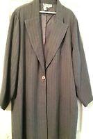 Women's Maggie Barnes Grey Pinstrpe Pant Suit Plus Size 20 W Pre-Owned