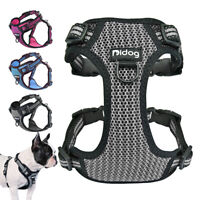 Breathable Mesh Pet Dog Vest Harness Reflective Small Medium Large Bull Terrier