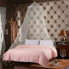 White Mosquito Net Canopy Fly Insect Protect Single Entry For Double King Bed