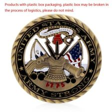 Golden US Army Core Values Commemorative Challenge Coin Collection Art Gift