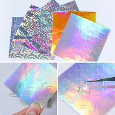 6 Sheets Holographic Laser 3D Nail Stickers Sawtooth Foil Decals Tip Born Pretty