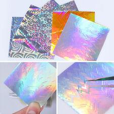 6 Blatt BORN PRETTY Holo Nagelfolie Sawtooth Candy Nail Folie 3D Nail Stickers