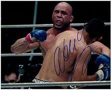 WANDERLEI SILVA Signed Autographed UFC MMA 8X10 PIC. D