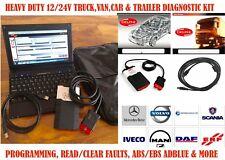 PROFESSIONAL CAR VAN TRUCK HGV UNIVERSAL BLUETOOTH DIAGNOSTIC KIT ABS/OBD/FAULTS