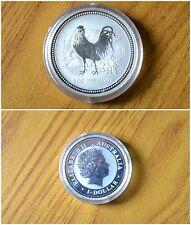 MONETA 1 DOLLAR DOLLARO 2005 AUSTRALIA GALLO 1 ONCIA ARGENTO 999 FINE SILVER