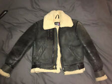 Schott B-3 Flight Jacket Shearling Size S 34/36