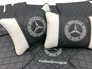 Mercedes, Maybach, AMG interior matching pillows in various colors and stitching
