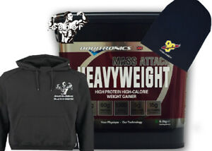 Boditronics Mass Attack Heavyweight Protein 6kg & ICEBERG HOODY & BEANIE HAT!