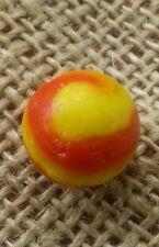 "11/16"" Akro Agate Marble Old Ketchup & Mustard Snake Swirl"