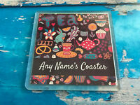 Personalised Tea Coaster  - Drink Coaster - Add Name - Great Gift