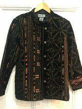 "INDIGO MOON - Stunning Black 100%cotton velvet jacket, Size L, 44"" bust"