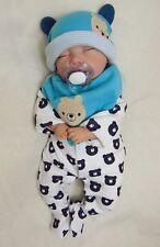 Reborn Baby Boy Doll Bear, Sleeping Newborn - #BabyDollArtUK