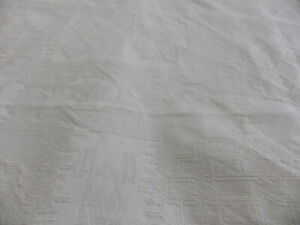 Cream Natural Modern Jacquard Damask Cotton Fabric Remnant Cushion Upholstery