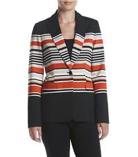 Calvin Klein Luxe Striped Button Blazer Jacket Size 12 AU (6 US) RRP $199