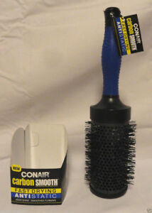 ConAir Carbon Smooth Fast Drying Anti-Static Brush (85701) Gift Beauty Accessory