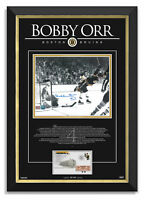 Bobby Orr Signed The Goal Boston Bruins Stanley Cup 1970 Archival Etched Glass™