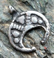 Ancient Solid Silver Neck Pendant Moon-Shaped  ''Lunula'' (T01)